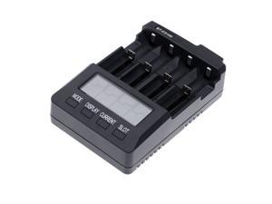 BT-C3100 Digital Battery Charger 4 Slots with Cooling Fan LCD for NiCd NiMH 3.7V Li-ion Rechargeable Batteries