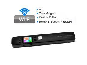 iScan Portable Wireless Wifi Digital Scanner Document Photo Receipts Books Double Roller 1050DPI JPG / PDF Format TF Card