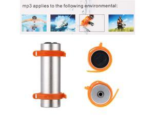 4GB Swimming Diving Water Waterproof MP3 Player FM Radio Earphone Silvery
