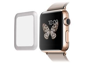 Link Dream Premium Tempered Glass Screen Protector Cover for 42mm Apple Watch iWatch Overall Protective Metal Frame 8-9H 0.2mm Thick High Transparency Anti-scratch Anti-dust Explosion-proof