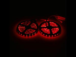10M 2*5M 3528 SMD RGB 600LEDs LED Strip Light Lamp 24Key + IR Remote Controller DC12V + Power Adapter AC100-240V