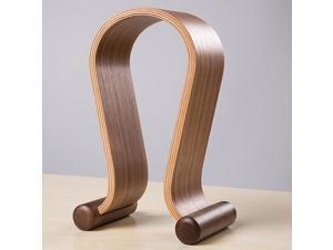Wooden Walnut Wood Omega Headphone Gaming Headset Display Stand Holder Hanger