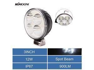 2pc 3inch 12W Round Mini EPISTAR LED Work Lamp Light Spot Beam Off-road Car Truck Boat Light