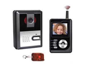 "2.4"" LCD 2.4GHz Wireless Handset Doorbell Intercom System with Wireless Unlock Controller Video Record 4G SD Card"
