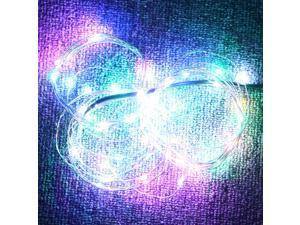 5m 50-LED String Light Lamp Decoration Lighting Silver for Christmas Party Wedding Five-color 12V