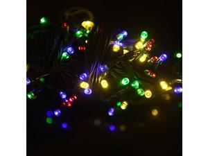 Features:A string of 100 LED lights flash, making a beautiful and fairy world.No power wire needed, powered by solar energy.Designed to be used outdoors or in an open/unshaded location.Ideal decor