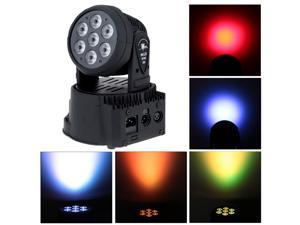 DMX-512 Mini Moving Head Light 4 In 1 RGBW LED Stage PAR Light Lighting Strobe Professional 5/13 Channel Party Disco Show 70W AC 100-240V Sound Active