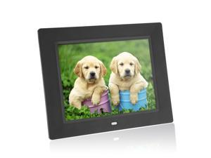 8'' Ultrathin HD TFT-LCD Digital Photo Frame Alarm Clock MP3 MP4 Movie Player with Remote Desktop