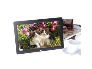 12'' HD TFT-LCD 1280 * 800 Full-view Digital Photo Frame Alarm Clock MP3 MP4 Movie Player with Remote Desktop