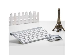 Ultra Thin Slim 2.4 GHz DPI Wireless Keyboard & Optical Mouse Combo Set Kit with USB Nano Receiver for Windows 7/8 Vista XP Mac OS PC Laptop Desktop