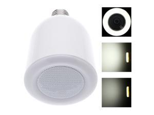 Wireless Bluetooth Audio Speaker with E27 LED Light Bulb Color Temperature Adjustable With RF Remote Control for iPhone 4/4S/5/5S/6/6 Plus iPad Mini/Air Samsung Galaxy