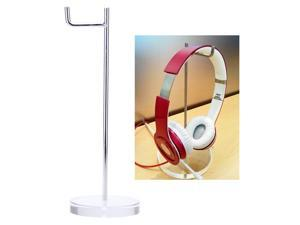 2-in-1 Universal 15mm Acrylic Base Headphone Stand Headphone Display Rack Headset Hanger Earphone Holder for AKG Sony Monster