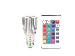LED Colorful Bulb16 RGB Light Lamp Spotlight Color Change with Remote Control 5630SMD 9LED 10W E27 85~265V
