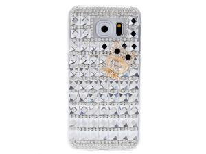 Charming PC Phone Protect Case Luxury Bling Bling Crystal with Special Metal Owl Pattern Design for Samsung Galaxy S6