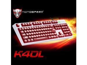 MOTOSPEED 104 Professional Gaming Esport Keyboard Mechanical Type Tactile Keycaps LED Backlit Backlight USB Wired for PC Laptop Desktop