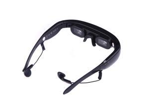 """4GB 72"""" 16:9 Virtual Wide Screen Video Glasses Eyewear Mobile Private Theater with AV Input Card Slot"""