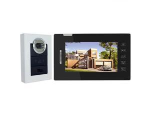 "7"" TFT LCD Color Video Door Phone Doorbell Intercom Security System with IR Night Vision for Villa Home Touch Key Take Photo"