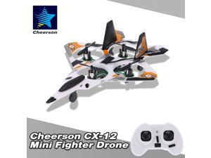 Cheerson CX-12B Mini Fighter Drone 2.4G 4CH 6-Axis Gyro LED RC Quadcopter