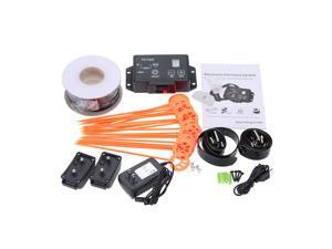 Professional Electronic Pet Fencing System Water Resistant Excellent Dog Fence System with 2 Shock Collar for 2 Dogs