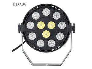 LIXADA DMX-512 RGBW LED Stage PAR Light Strobe Professional 8 Channel Party Disco Show 15W AC 100-240V