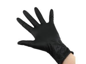 100Pcs Disposable Black Nitrile Gloves Powder-free Non-Sterile Three Sizes S M L