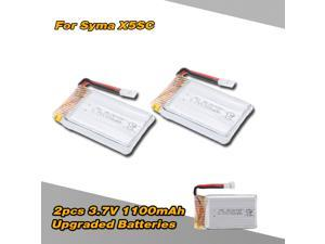 2pcs 3.7V 1100mAh Upgraded Lipo Battery for Syma X5SC X5SW RC Quadcopter Drone