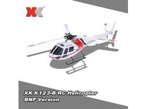 Original XK AS350 K123-B 6CH 3D 6G System Brushless Motor BNF RC Helicopter