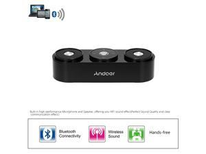 Andoer Bluetooth Speaker Portable Mini Stereo Wireless Sound Box With FM Radio TF Card Super Bass Built-in Rechargeable Battery With Mic USB Slot Audio Jack Loudspeaker For TV PC Tablets
