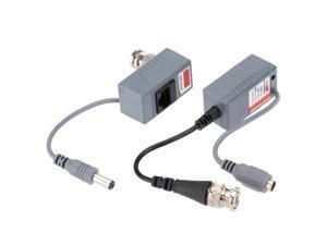 CCTV Camera Video Balun Transceiver BNC UTP RJ45 Video and Power over CAT5/5E/6 Cable
