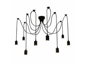 LIXADA 8 Arms(each with 1.7m wire) Antique Classic Ajustable DIY Ceiling Spider Lamp Light E27 Retro Chandelier Pedant Dining Hall Bedroom Hotel