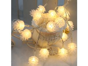 LIXADA 2.2M 20 LED Warm White Pinecone Lamp Fairy String Light for Party Wedding Christmas Home Room Decor Gift
