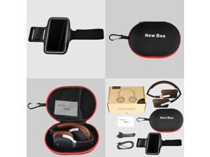 New Bee NB-9 Wireless Stereo Bluetooth 4.1 Headphone NFC Music Headset with Pedometer 3.5mm Audio Folding Earphone 2 in 1 Hands-free w/ Mic for iPhone6S 6 Samsung S6 Note 5 Notebook