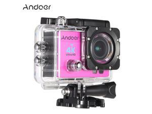 "Andoer Q3H 2"" Ultra-HD LCD 4K 25FPS 1080P 60FPS Wifi Wireless Connection 16MP Action Camera 170°Wide-Angle Lens with Diving 30-meter Waterproof Case"