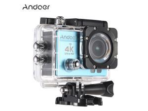 """Andoer 2"""" Ultra-HD LCD 4K 25FPS 1080P 60FPS Wifi Wireless Connection 16MP Action Camera 170°Wide-Angle Lens with Diving 30-meter Waterproof Case"""