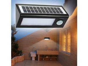 LIXADA 36LEDs Triangle Shaped Ultra Bright Dimmable Outdoor Solar Powered PIR Motion Sensor Light Security Wall Lamp for Garden Balcony Villa Courtyard