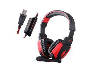 KOTION EACH G4000 Gaming Headphone USB Stereo Headset Noise Cancellation Music Earphone w / Mic LED Light Volume Control LED Light for Computer Desktop Notebook Laptop Games