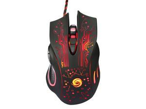 Professional USB Wired Optical Gaming Mouse Adjustable 5 Levels DPI 5500 with 6 Buttons LED Light for Desktop PC Laptop Gamer