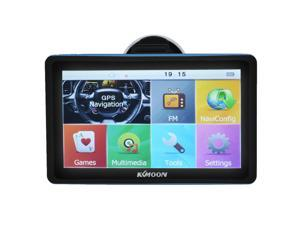 KKMOON 7inch HD Touch Screen Car Portable GPS Navigator 128MB 8GB FM Ebook MP3 Video Player Car Entertainment System with Free Map
