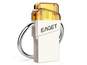 EAGET V66 16G USB 3.0 External Storage Memory Stick Flash Thumb Pen Drive Micro USB OTG Connector for Android Smartphone/Tablet/PC/Laptop