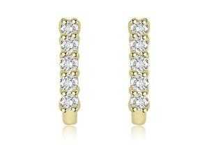 0.30 cttw. Round Cut Latchback Diamond Earrings in 18K Yellow Gold (SI2, H-I)