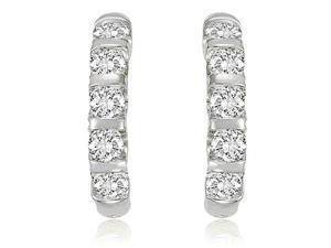 2.00 cttw. Round Cut Diamond Huggies in Platinum (VS2, G-H)