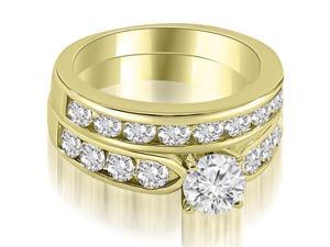 2.95 cttw. Classic Channel Set Round Cut Diamond Bridal Set in 18K Yellow Gold (SI2, H-I)