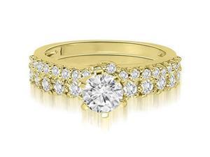 1.90 cttw. Classic Basket Round Cut Diamond Bridal Set in 14K Yellow Gold (VS2, G-H)