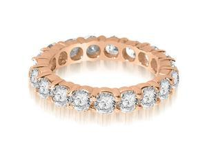 2.20 cttw. Round Shared Prong Diamond Eternity Ring in 14K Rose Gold (SI2, H-I)