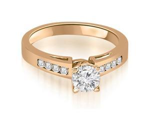 0.95 cttw. Channel Set Round Cut Diamond Engagement Ring in 14K Rose Gold (VS2, G-H)