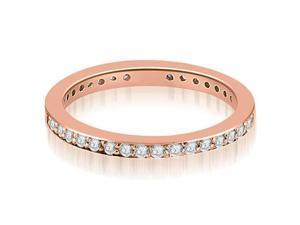 1.50 cttw. Round Diamond Eternity Ring in 18K Rose Gold