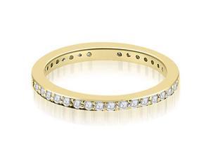 1.50 cttw. Round Diamond Eternity Ring in 18K Yellow Gold