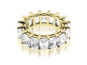 5.50 cttw. Classic Bar Set Emerald Cut Diamond Eternity Ring in 14K Yellow Gold