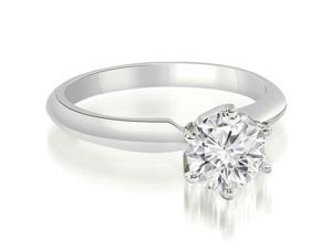 0.50 cttw. Knife Edge Solitaire Round Diamond Engagement Ring in Platinum (SI2, H-I)