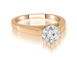 0.50 cttw. Cathedral Solitaire Round Diamond Engagement Ring in 14K Rose Gold (SI2, H-I)